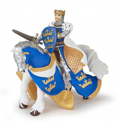 Cheval du roi Arthur bleu