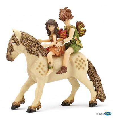 Elves children and pony
