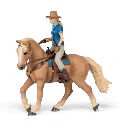 Cheval western et sa cavalière