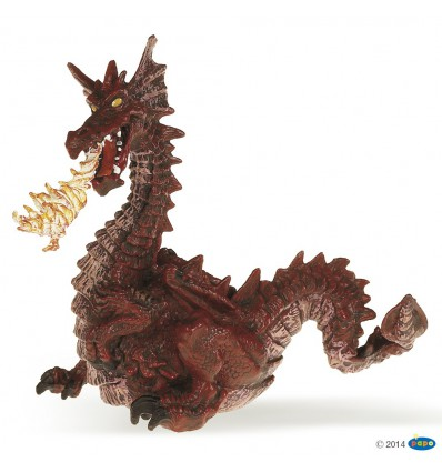 Feuerspeiender Drache, rot