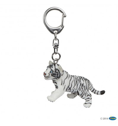 Key rings White tiger cub