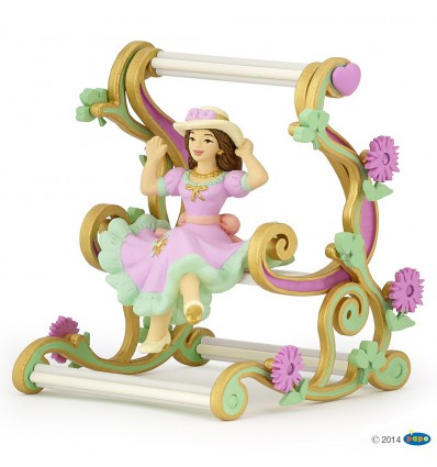 Princess on swing chair