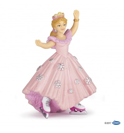 Pink princess with ice skates