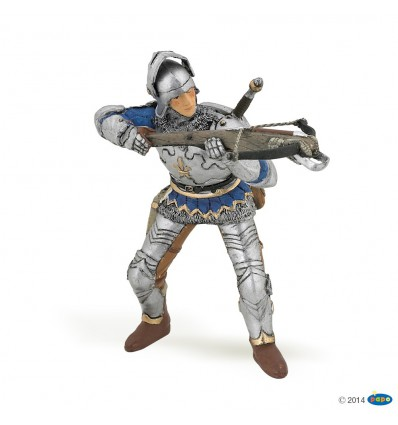 Arbalétrier bleu en armure