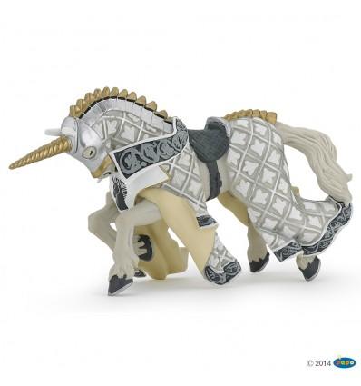 Cheval du Maître des armes cimier licorne