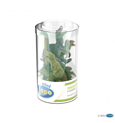 Mini PLUS Dinosaurier Set 1 (Kunststoffbehälter, 6 Stück)