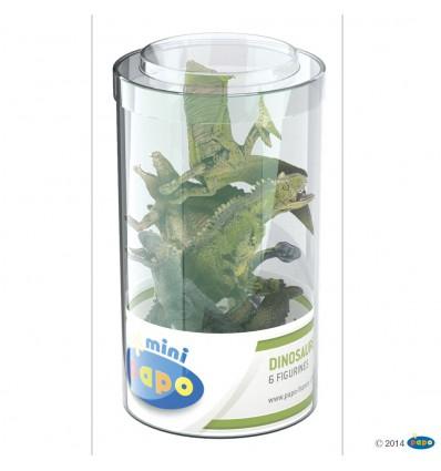 Mini PLUS Dinosaurier Set 2 (Kunststoffbehälter, 6 Stück)