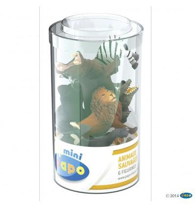 Mini PLUS Wildtiere Set 1 (Kunststoffbehälter, 6 Stück)