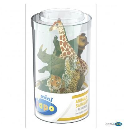 Mini PLUS Wildtiere Set 2 (Kunststoffbehälter, 6 Stück)