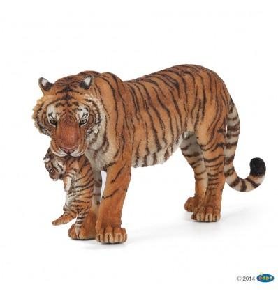 Tigress with cub
