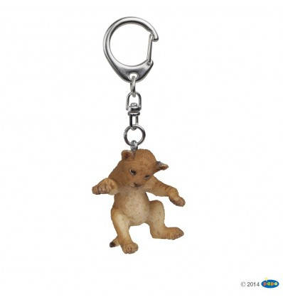 Key rings Young lion on its back
