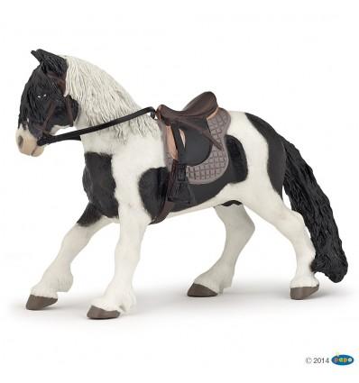 Pony with saddle