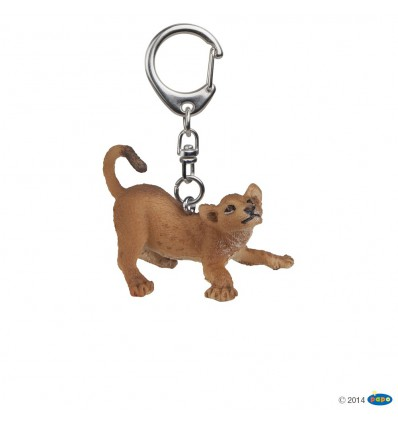 Key rings Playing young lion