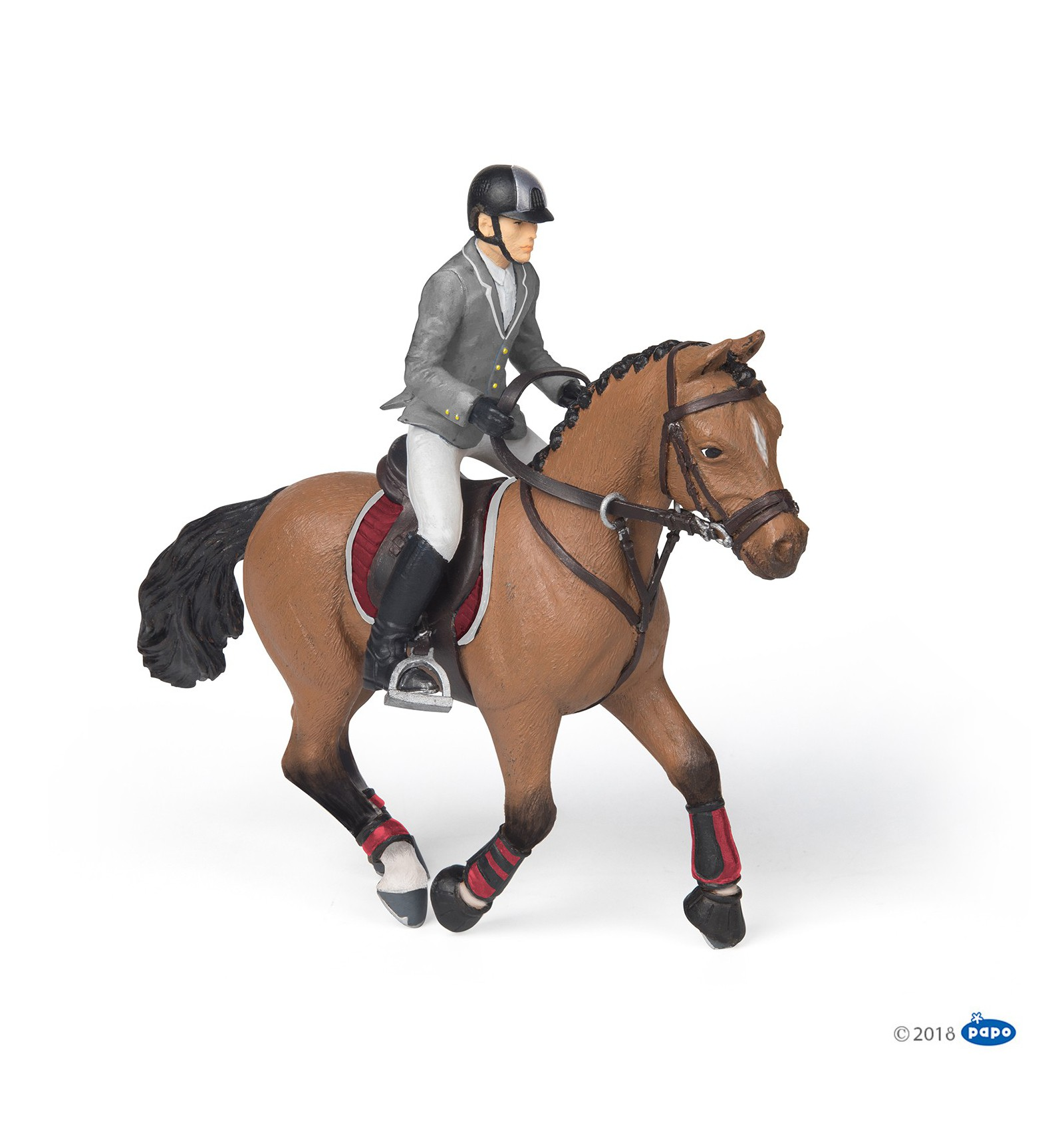 Competition Horse With Rider Papo