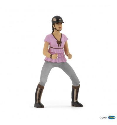 Trendy riding girl pink