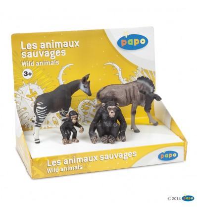 Display box wild animals 1 (4 fig.)