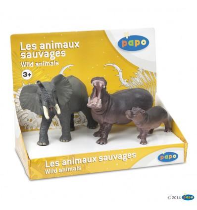 Boîte présentoir animaux sauvages 2 (3 fig.)