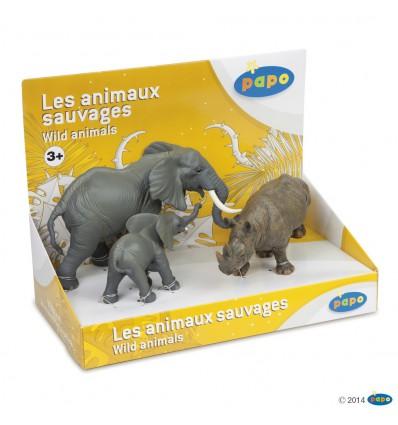 Display box wild animals 3 (3 fig.)