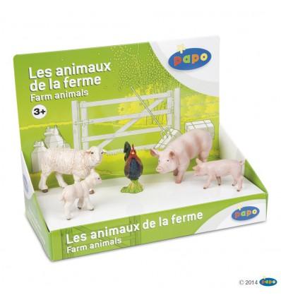 Boîte présentoir animaux de la ferme 1 (5 fig.)