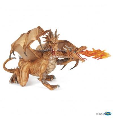 Dragon deux têtes or