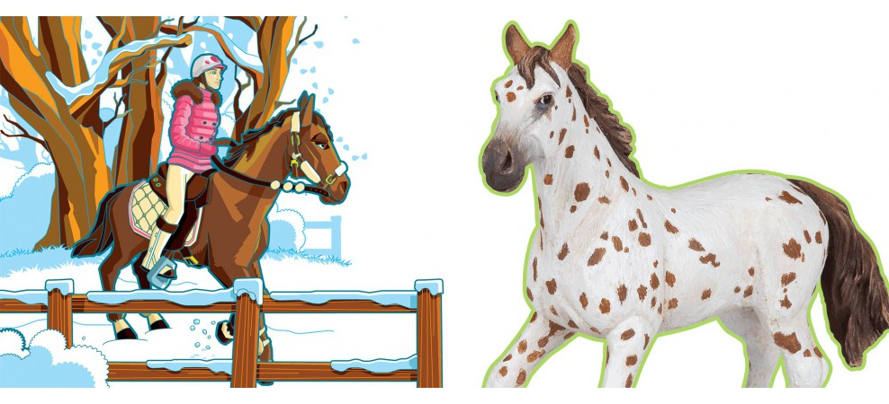 Chevaux poulains et poneys papo - Dessin anime avec des poneys ...