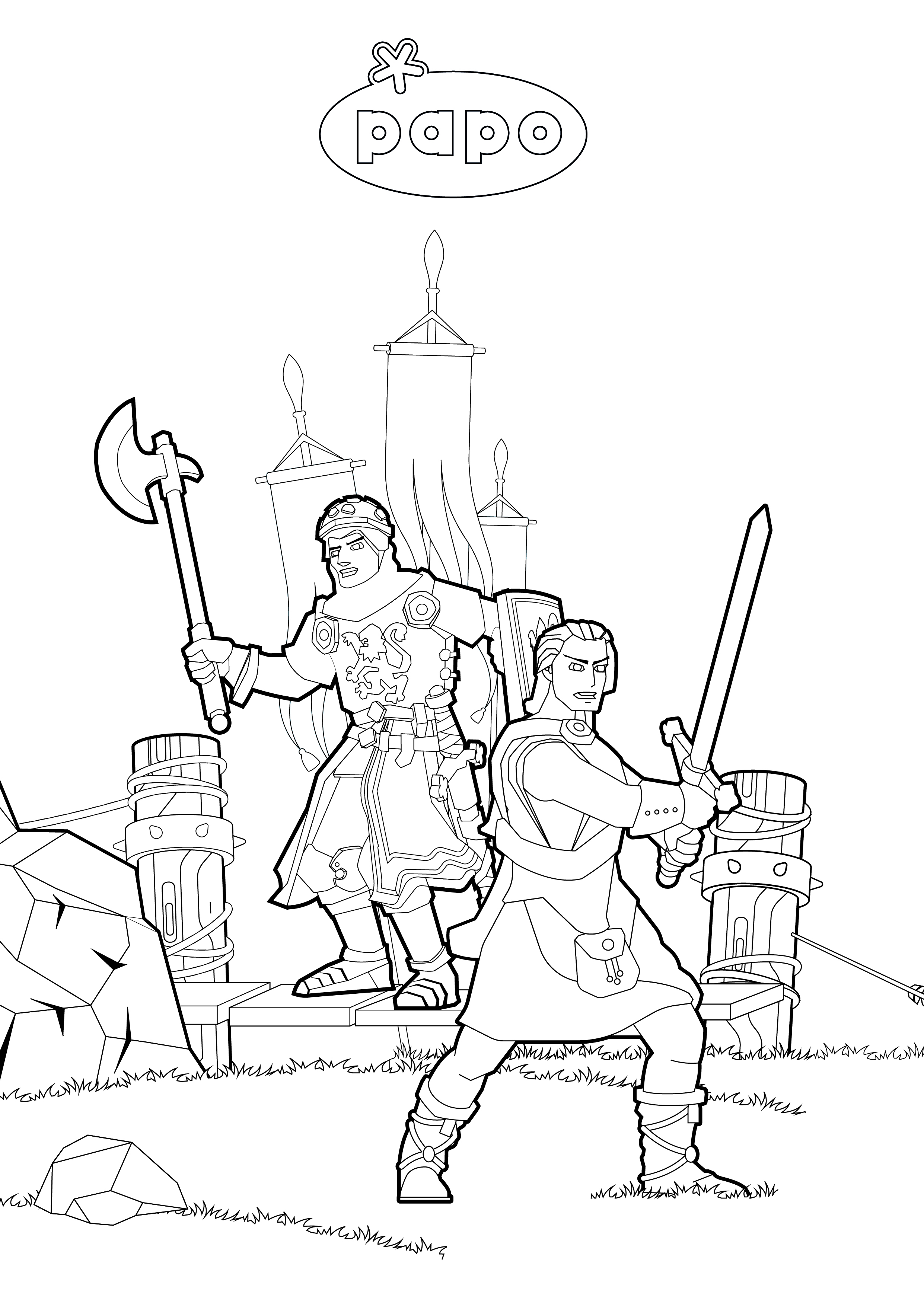 Coloriage Chevaliers
